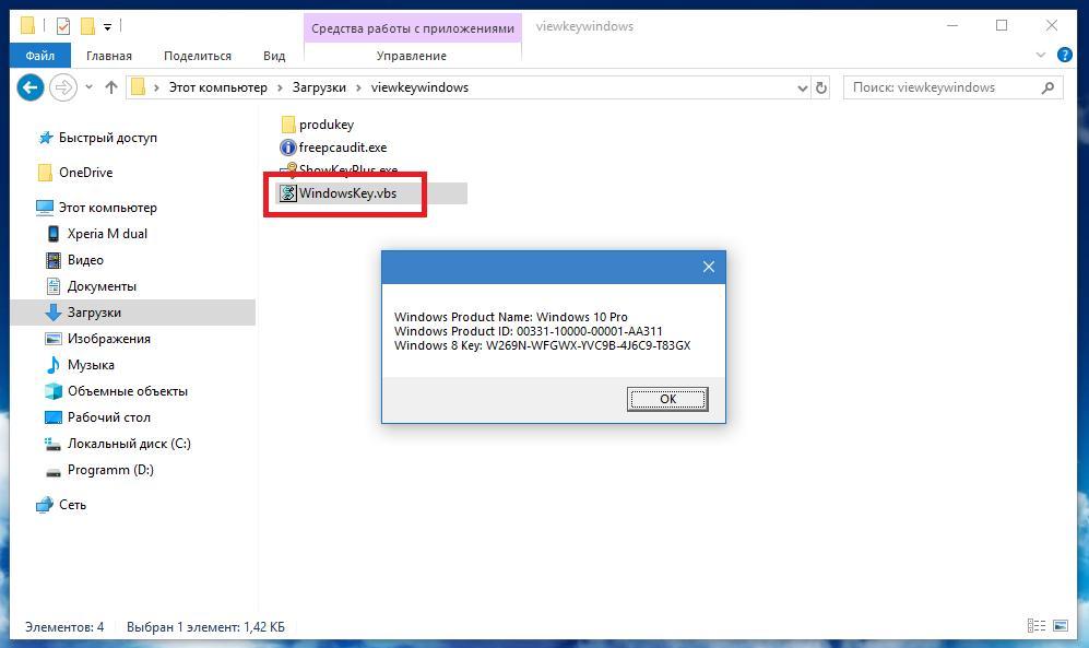Запуск файла скрипта для ключа продукта