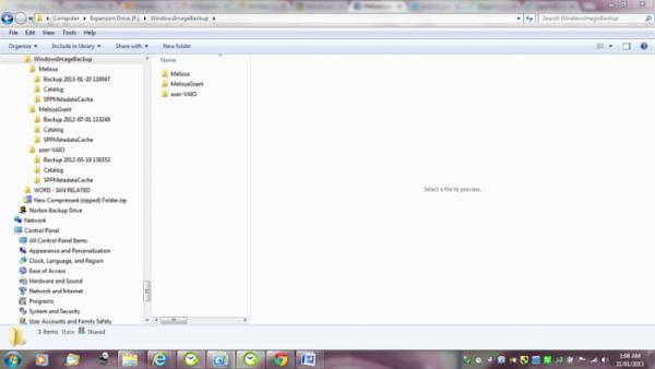 Папка «WindowsImageBackup» содержит хранилище данных на тот случай, если операционную систему придется восстанавливать