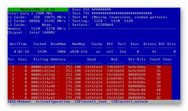Проверка оперативной памяти на ошибки программой memtest86 в Windows 7