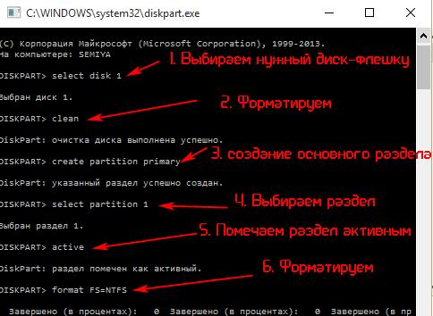 Поэтапное создание загрузочной флешки средствами Windows 7