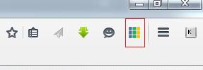 Значок в панели Firefox