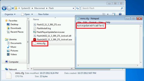 Папка с установленным плагином Adobe Flash Player