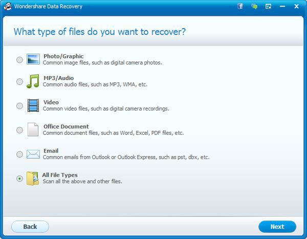 Select file types