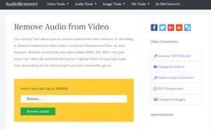 Убрать звук из видео онлайн