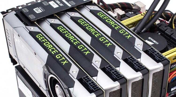 Сборка 4 карт GeForce по технологии SLI