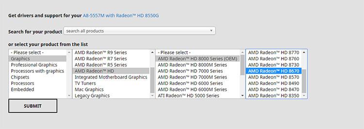 Скачать драйвера с официального сайта AMD очень просто