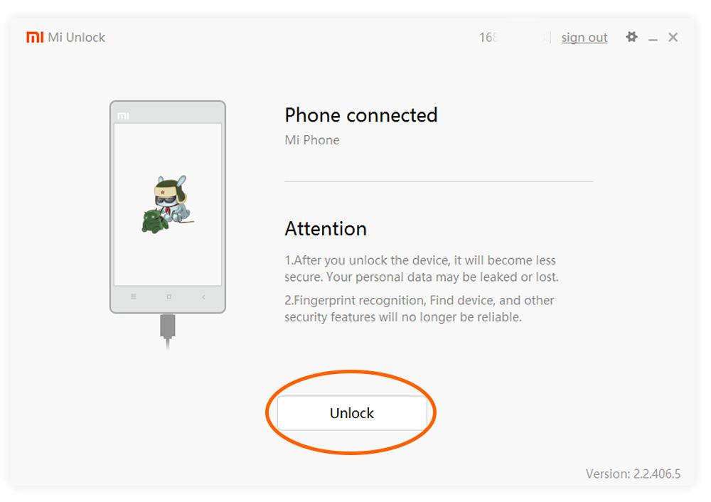 Mi Flash Unlock - разблокировка смартфона