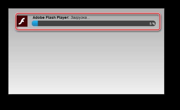 Процесс установки Adobe Flash Player