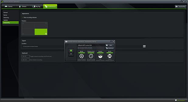 NVIDIA GeForce Experience  ShadowPlay