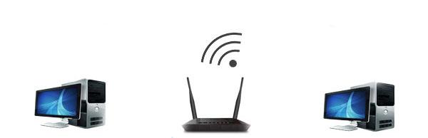 Подключаем компьютеры но Wi Fi к роутеру