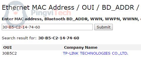 Как узнать производителя по MAC-адресу