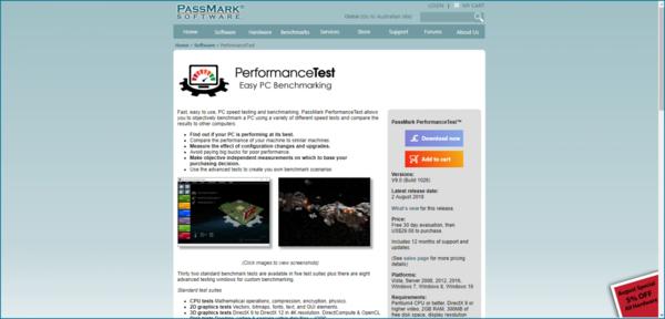 тест производительности компьютера PassMark Performance Test