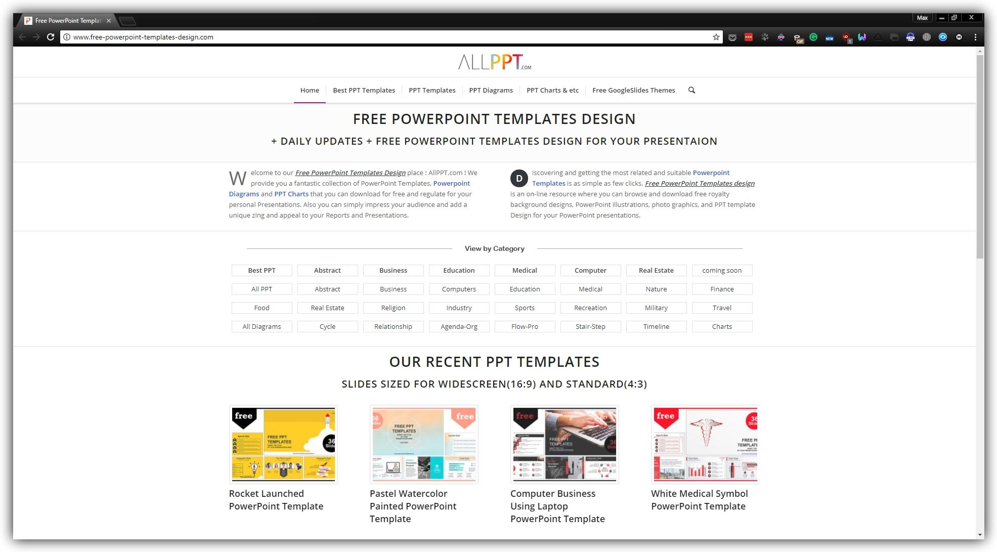 Где скачать бесплатные шаблоны презентаций: ALLPPT