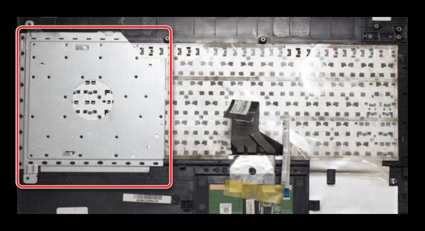 Отсоединение клавиатуры от панели на ноутбуке ASUS