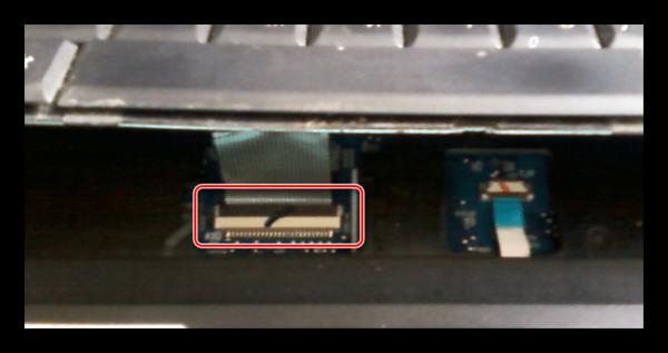 Пример шлейфа клавиатуры на ноутбуке ASUS