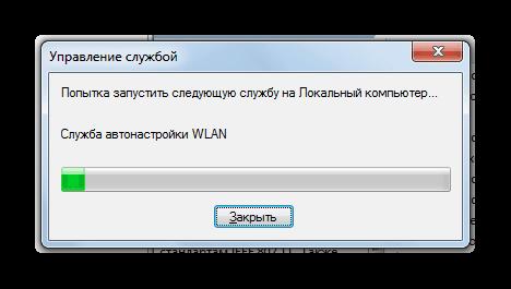 Процедура запуска службы Служба автонастройки WLAN в Windows 7