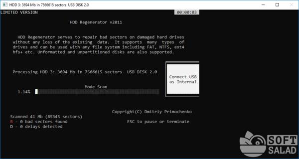 Тестирование диска HDD Regenerator