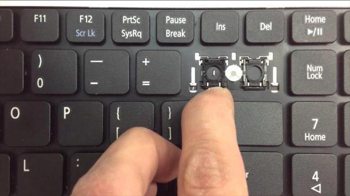 Рисунок 1. Как снять клавиши со встроенной клавиатуры ноутбука?