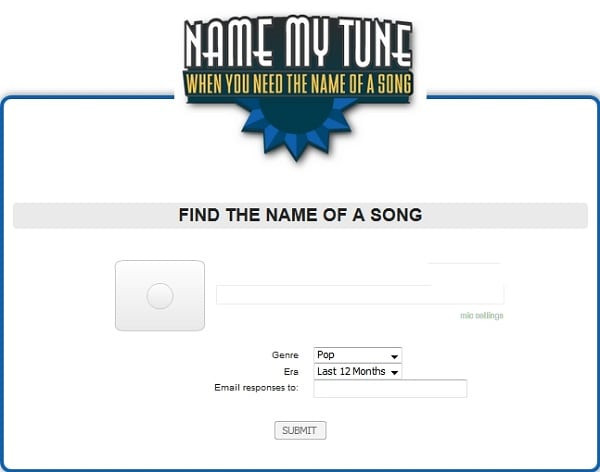 Сервис NameMyTune