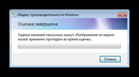 Процедура оценки компьютера в Windows 7