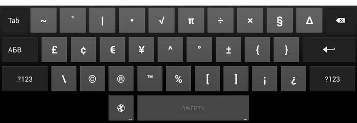 Клавиатура в Андроид