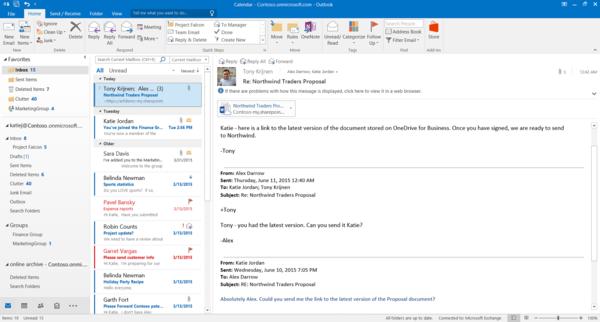 почтовый клиент Microsoft Outlook