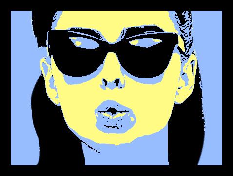 Результат создания портрета в стиле поп-арт в Фотошопе