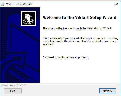 Приветствие в мастере установки Wizard
