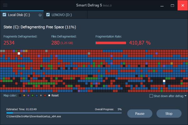 IObit Smart Defrag - дефрагментация жесткого диска