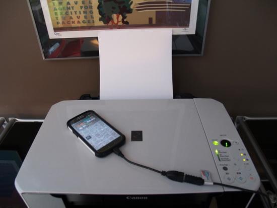Подключение принтера к смартфону