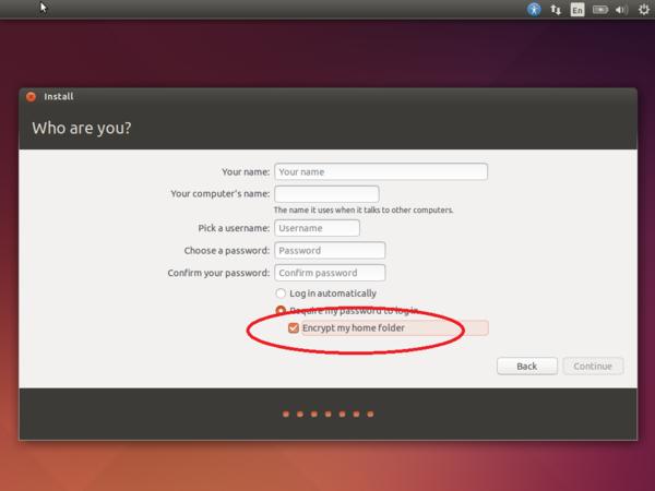 шифрование ubuntu