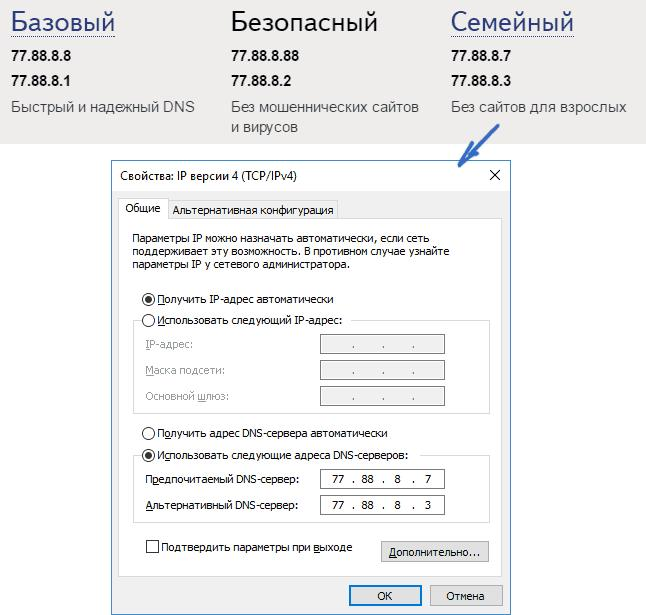 Яндекс. DNS